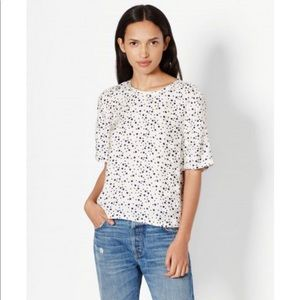 EQUIPMENT • Brynn Short Sleeve Polka Dot Shirt